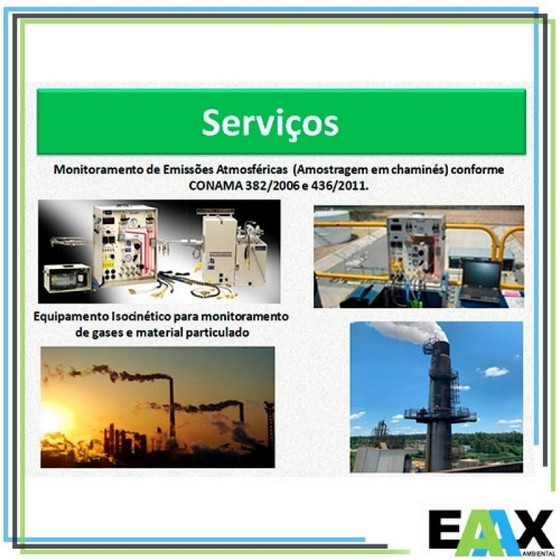 Empresas de Monitoramento da Qualidade Atmosférica na Cidade de Sp Nossa Senhora do Socorro - Empresa de Monitoramento Emissões Atmosféricas