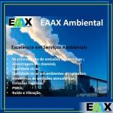 amostragem de emissões atmosféricas na construção civil ARUJÁ